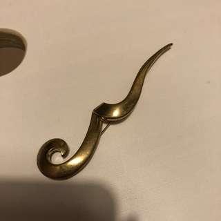 Vintage brooch broach pin gold 金色 心口針 胸針 復古
