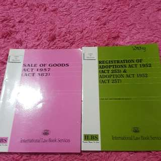 various law acts at Rm 8 each!