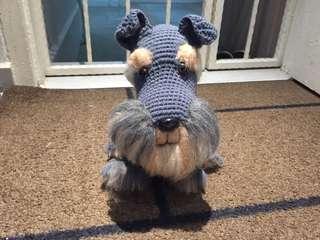 Crochet Schnauzer with felting