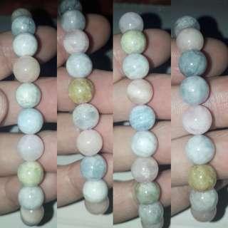 Morganite Bracelet(摩根石手链). Top quality, nice colour.