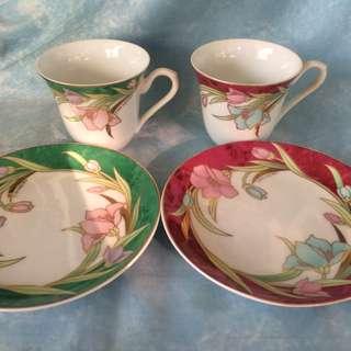 Yumi Katsura Fine Bone China Tea Cups