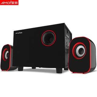 (淘寶$30優惠券)Amoi/夏新 A510筆記本電腦音響台式家用迷你小音箱重低音炮影響