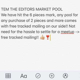 POOL EDITORS MARKET PURCHASE
