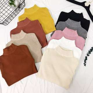 [PO] knitted turtleneck long sleeve