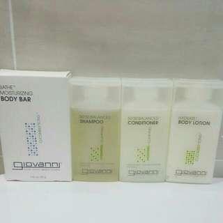 🌹Brand New Giovanni Eco Chic Hair Shampoo + Conditioner + Body Lotion + Bath Moisturizing Body Bar