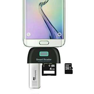 OTG Smart Card Reader Connection Kit for Smartphone and PAD