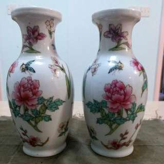民國時期 小形 花瓶一對