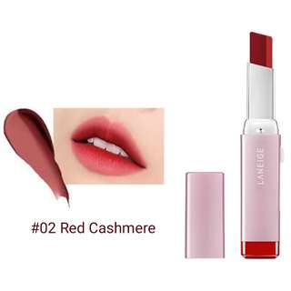 LANEIGE Two Tone Matte Lipbar #02 red cashmere