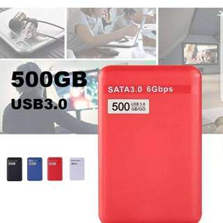 "500GB 2.5"" USB 3.0 Portable External Hard Disk Drive HDD for Laptop/Mac"