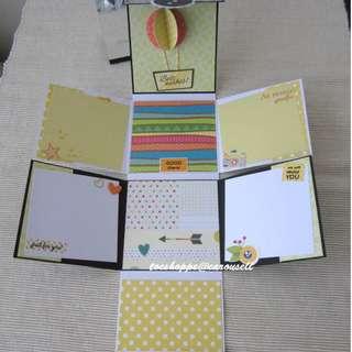 Farewell Upsize Wallet Scrapbook Card