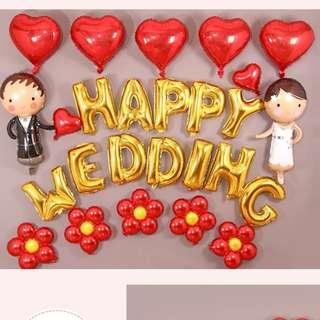 Happy Wedding Inflatable aluminium foil bride bridegroom love party balloon decoration