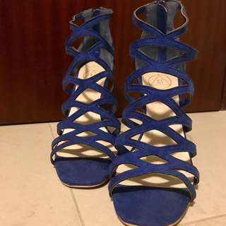 Missguided blue heels