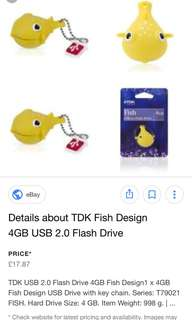 Yellow fish tdk usb