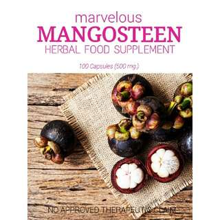 Organic MANGOSTEEN Herbal Food Supplement (Anti-aging & Anti-acne)