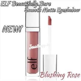 NEW INSTOCK ELF Beautifully Bare Smooth Matte Eyeshadow In Blushing Rose / ELF Cosmetics / e.l.f. Cosmetics Beautifully Bare Smooth Matte Liquid Eye Shadow In Blushing Rose