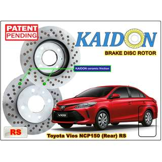 "TOYOTA VIOS NCP150 disc brake rotor KAIDON (REAR) type ""RS"" / ""BS"" spec"