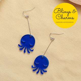 PO☆Frosted Quirky Earrings☆Octopus