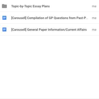 [A'Levels] General Paper Notes and Essay Plans