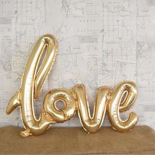 "RENT: Rose Gold ""Love"" Balloon"