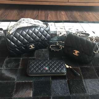Chanel  3 bags set black Colour