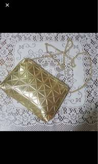 BN gold Color sling bag