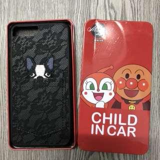 黑色口袋牛犬電話殻iphone7/8plus