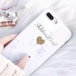 白色大理石電話殻iphone7/8plus