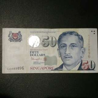 Lucky nos 98 98 96 🇸🇬$50 Portrait series