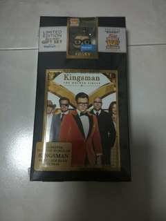 Kingsman The Golden Circle Bluray/DVD/Digital Walmart Edition With Exclusive Pop Keychain