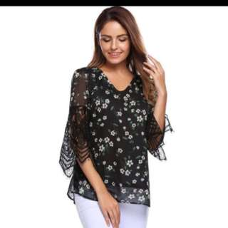Lace Printed Top