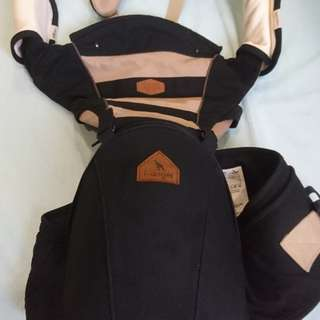 I Angel MESH Hip Seat Baby Carrier (black)