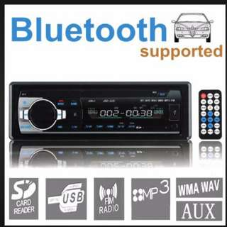 Wireless Bluetooth Car Audio Stereo Single DIN 12V FM Receiver With Remote Control,In-Dash Car MP3 Player Support Aux Input TF Card USB