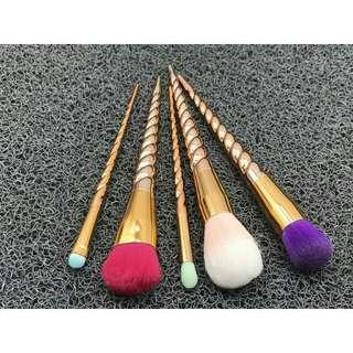 5pcs unicorn make up brush set