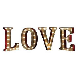 RENT: ''LOVE'' LED Marquee Sign Decor