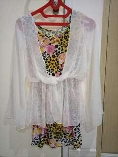 Dress Korea Wanita Cantik Size S