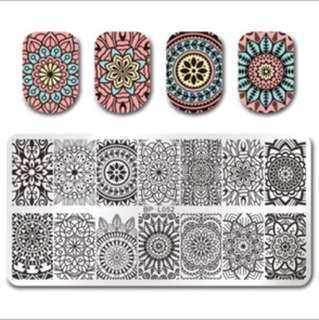 12x6cm Rectangle Nail Stamping Template