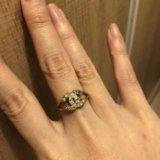 Chanel vintage diamond ring 復古 介子 戒子