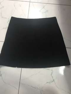Black A line skirt with shorts