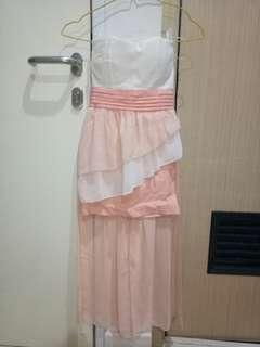 Gaun pink pesta wanita size XS