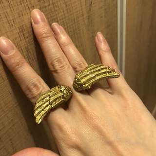 Vintage wing freedom ring 金色 翼 戒子 介子