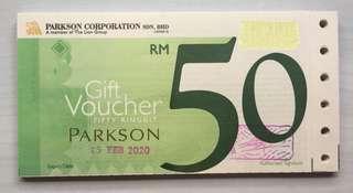 Malaysia Parkson Gift Voucher