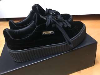 Puma x Fenty Velvet Creepers in Black