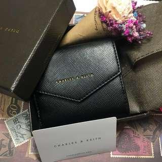 新加坡購入小CK ✨已降價✨CHARLES&KEITH 女用皮夾 錢包 短夾 配色短夾 零錢袋