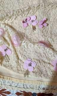 Mini kurung lace 3d flower