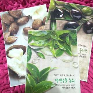 Take All: Nature Republic Sheetmask Set isi 3