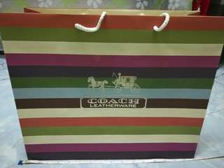 Coach paper bag (Large)