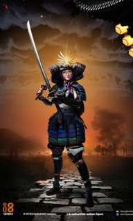 """i8-001B - 1/6th Scale Collectible Figure - Female Samurai """"Rin"""" (Black Armor Version)i8TOYS"""