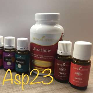 Young living alkalime, lavender, peppermint, eucalyptus, raven, frankincense, new stock!