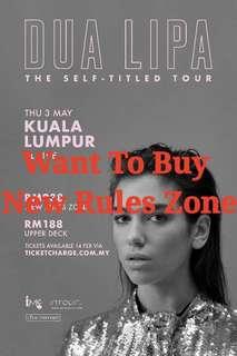 Want To Buy Dua Lipa KL