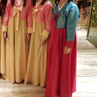 Blue Korean Traditional Costume